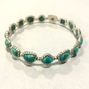 SILPADA Sterling Silver Turquoise Pools Bangle